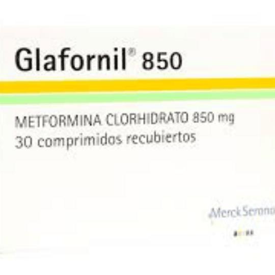 Glafornil 850 mg 30 comprimidos