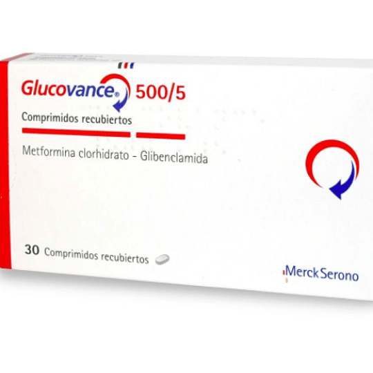 Glucovance 500 mg / 5 mg 30 comprimidos