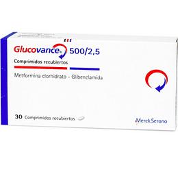 Glucovance 500 mg / 2,5 mg 30 comprimidos