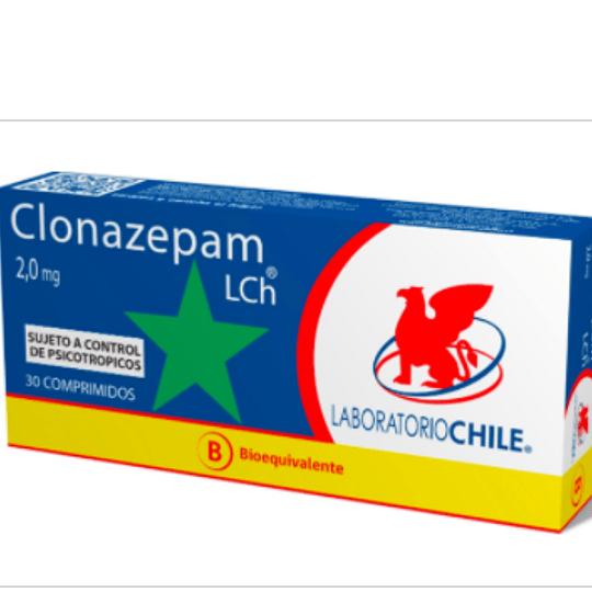 Clonazepam 2 mg 30 comprimidos