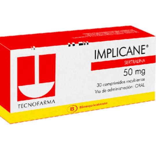 Implicane 50 mg 30 comprimidos