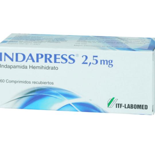 Indapress 2,5 mg 60 comprimidos