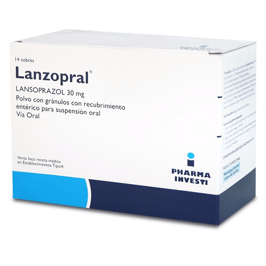 Lanzopral pediátrico 30 mg 14 sobres