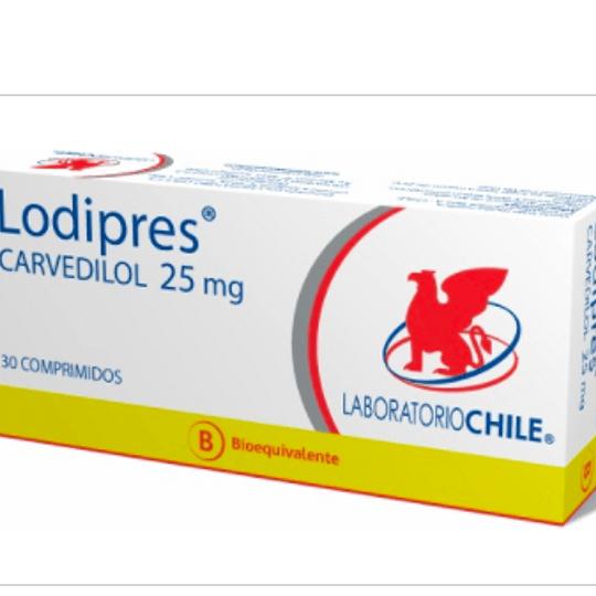 Lodipres 25 mg 30 comprimidos