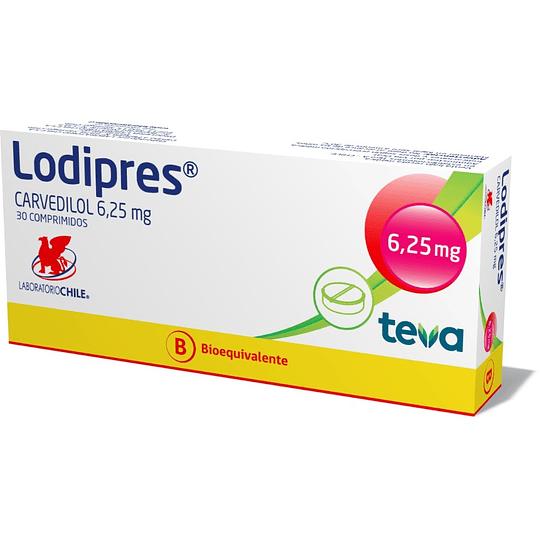 Lodipres 6,25 mg 30 comprimidos