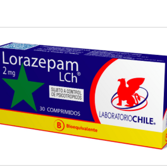 Lorazepam 2 mg 30 comprimidos