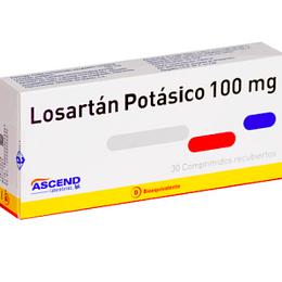 Losartán Potásico 100 mg 30 comprimidos
