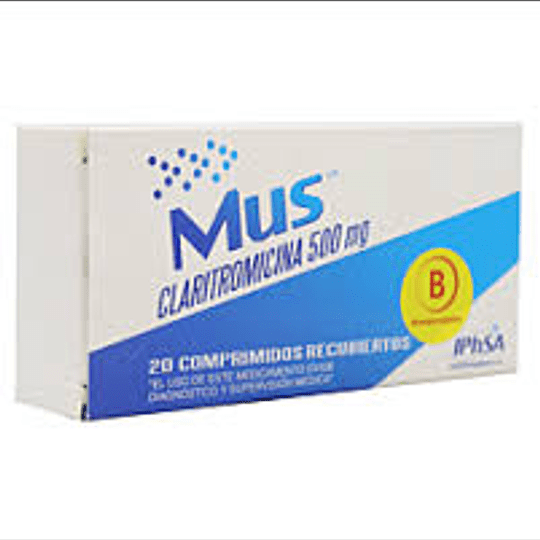 Mus 500 mg 20 comprimidos