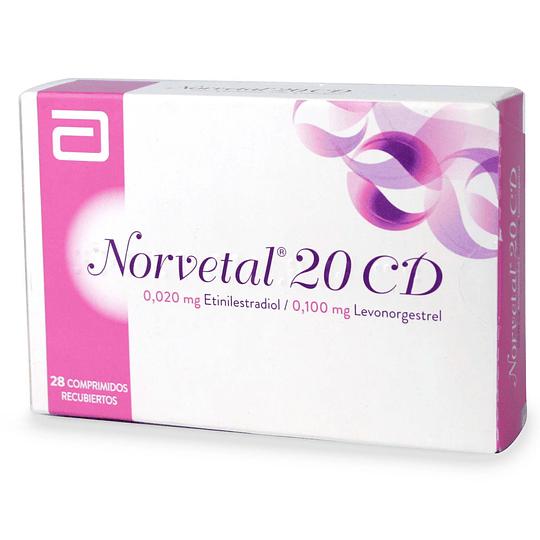 Norvetal 20 CD  28 comprimidos