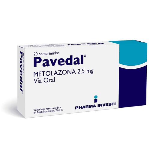 Pavedal 2,5 mg 20 comprimidos