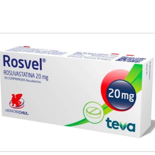 Rosvel 20 mg 30 comprimidos
