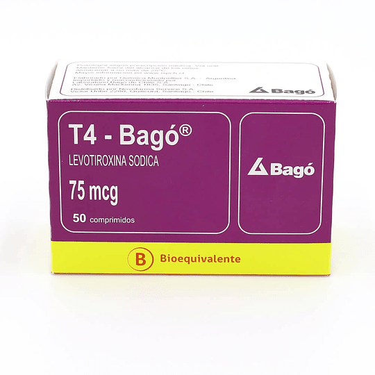 T4 75 mcg 50 comprimidos