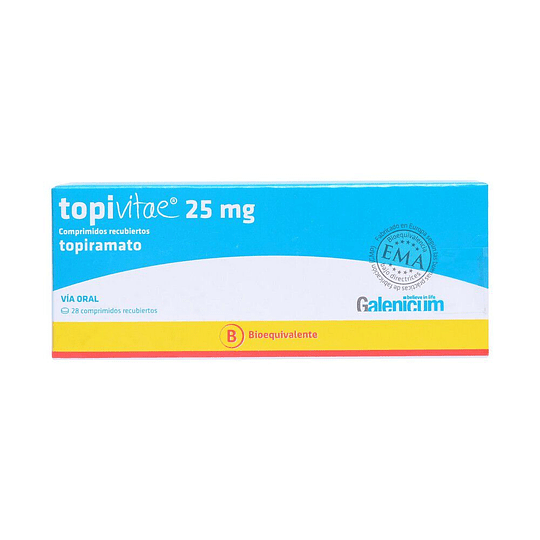 Topivitae 25 mg 28 comprimidos