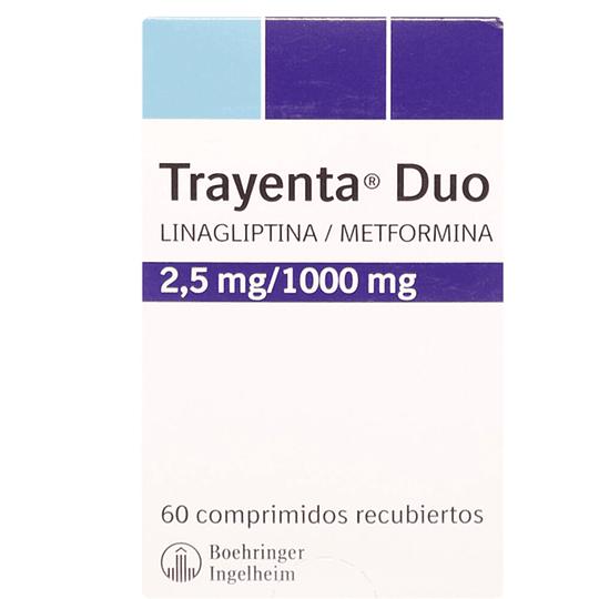 Trayenta Duo 2,5 mg / 1000 mg 60 comprimidos