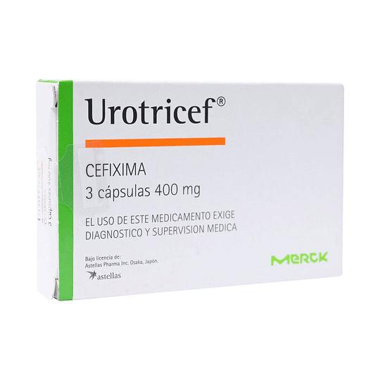 Urotricef 400 mg 3 cápsulas