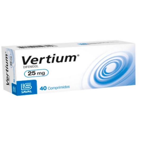 Vertium 25 mg 40 comprimidos