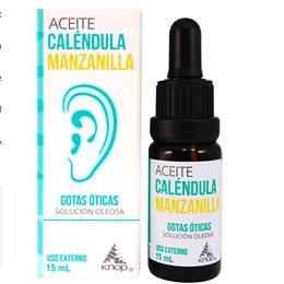 Aceite Caléndula Manzanilla Gotas óticas 15 ml Knop