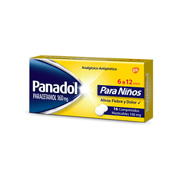 Panadol Infantil 160 mg 16 comprimidos masticables