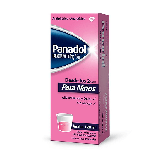 Panadol Infantil 160 mg Jarabe 120 ml