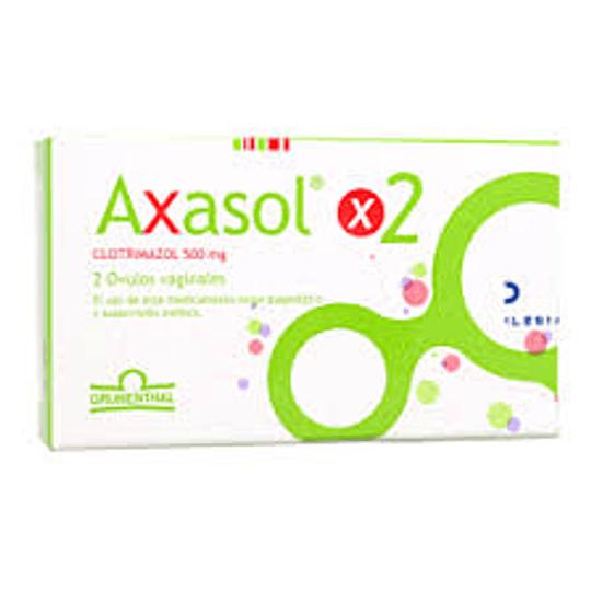 Axasol 500 mg 2 óvulos vaginales