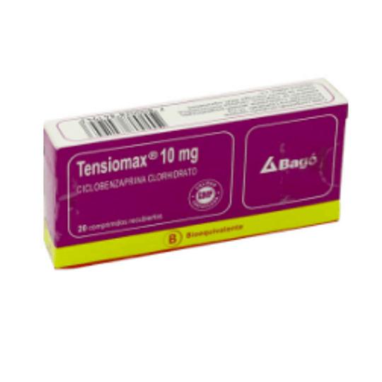 Tensiomax 10 mg 20 comprimidos