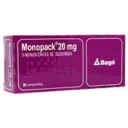 Monopack 20 mg 30 comprimidos