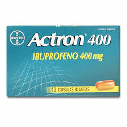 Actron 400 mg 10 cápsulas blandas