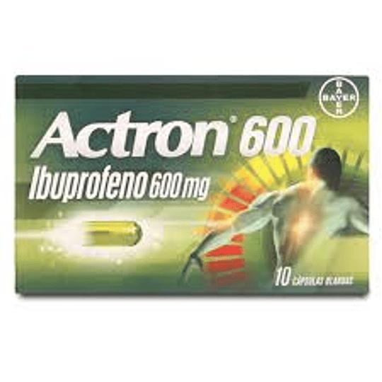 Actron 600 mg 10 cápsulas blandas