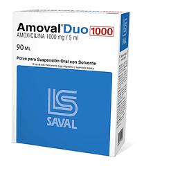 Amoval Duo 1000 mg, suspensión 90 ml