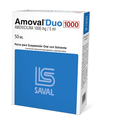 Amoval Duo 1000 mg / 5 ml suspensión 50 ml