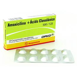 Amoxicilina/ Ácido Clavulánico 500 / 125 mg 20 comprimidos - Opko