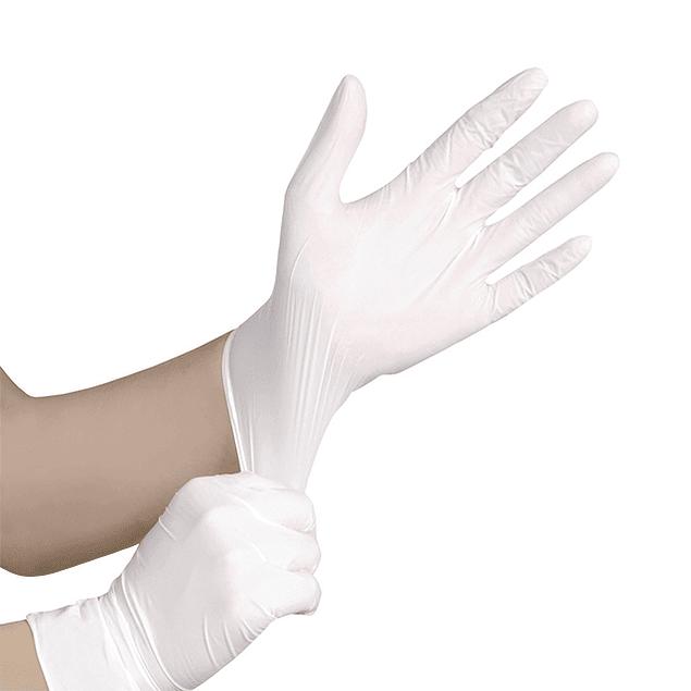 Luvas Látex brancas s/ Pó (8,20 €/caixa 100u + IVA)