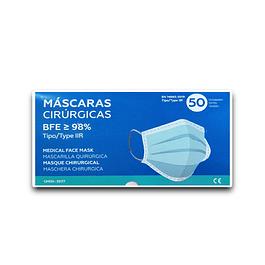 Máscara Cirúrgica Tipo IIR (0,14 € + IVA)