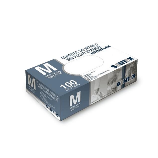 Luvas Nitrilo Santex azuis s/ Pó (11,95 €/ caixa 100u + IVA)