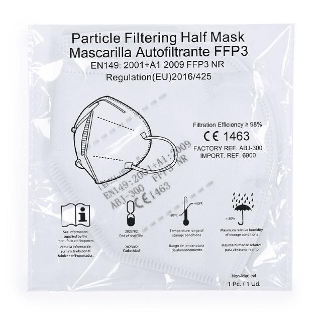 Máscara FFP3 (desde 0,69 € + IVA)