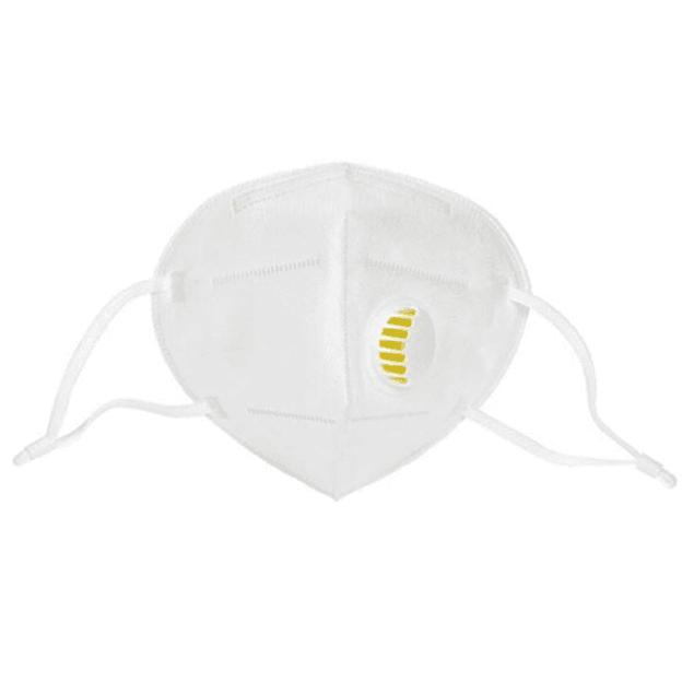 Máscara KN95 com válvula (0,39 € + IVA)