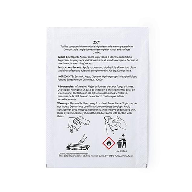 Toalhitas Higienizantes Mãos e Superfícies (0,10€ + IVA)