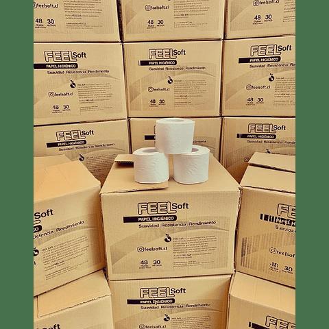 Papel Higiénico Feel Soft - caja 48 rollos de 30 mts