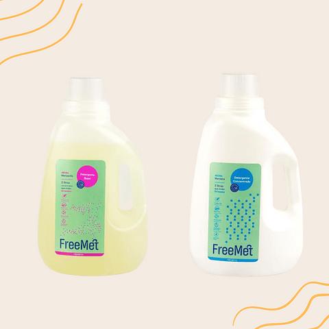 PACK dos detergentes Freemet 3 Lts