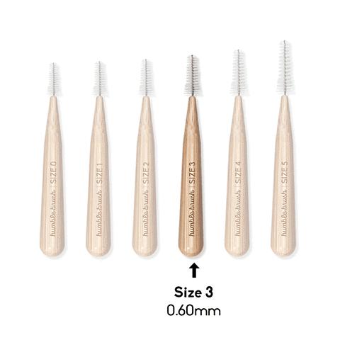 Cepillo interdental de bambú (0.6 mm)