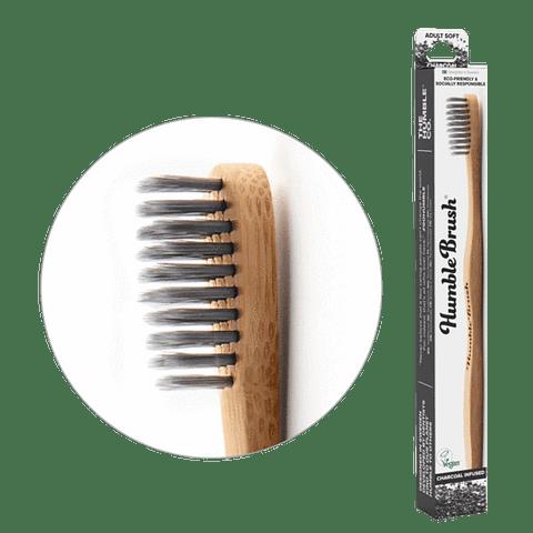 Cepillo adulto cerdas suaves - Carbón