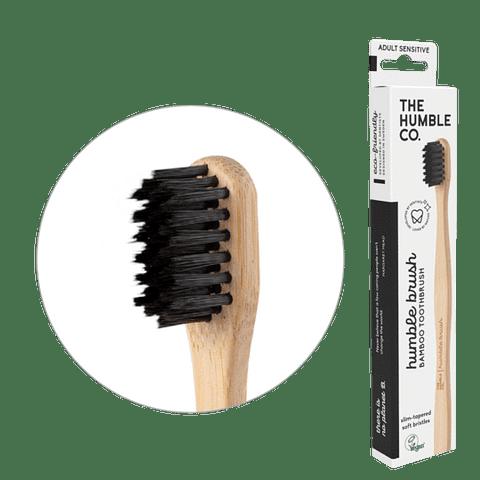 Cepillo dientes adulto - sensible - negro