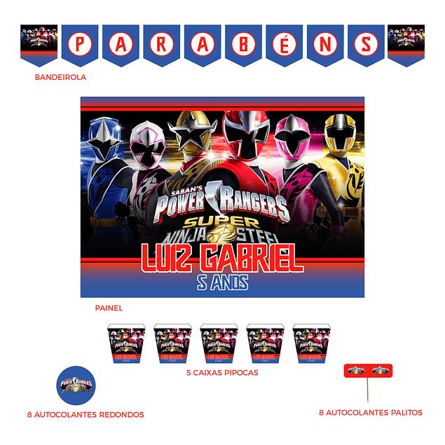 Kit Festa Power Rangers