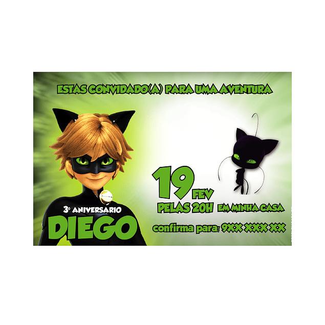 Convites Gato Noir