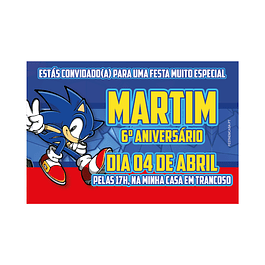 Convites Sonic