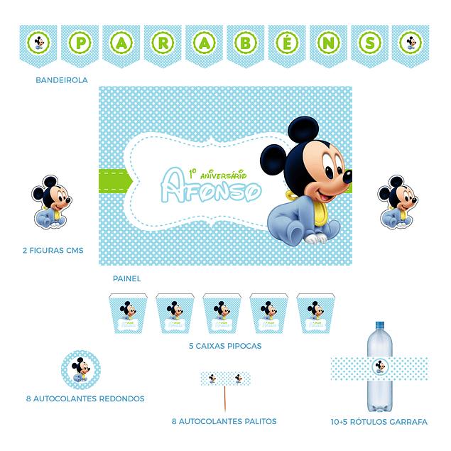 Kit Festa Mickey Bebé