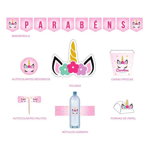 Produtos Festa Unicórnio Rosa
