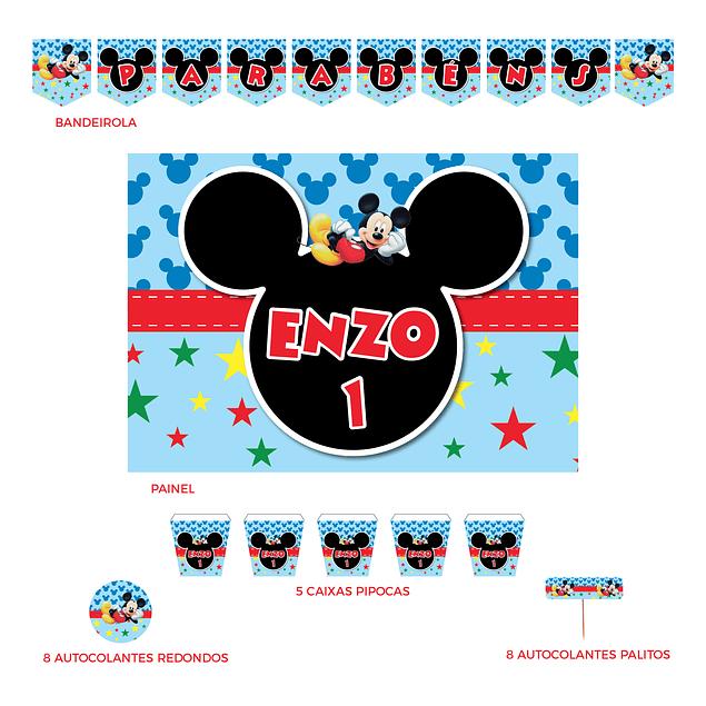 Kit Festa Mickey Estrelas