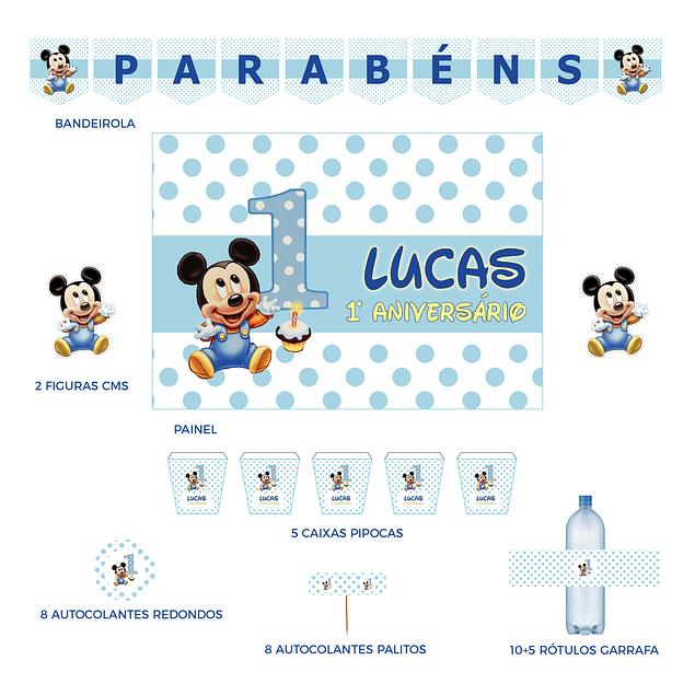 Kit Festa Mickey Bebé 2