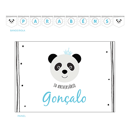 Kit Festa Panda Chic Azul